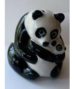 Wade  Panda Bear Mother and Baby Original Nat West Piggy Money Bank - $19.79