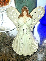 Lenox Angel of Adoration Fine China Figurine Candle Holder Ivory Gold Tr... - $24.74