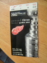 2002 Detroit Red Wings Stanley Cup Playoffs Round 3, Game 1 - $7.66