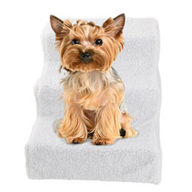 Portable Soft Pet Stairs & Ramp Cat Step Dog Bed Ladder Dog Stairs Sofa ... - $24.67