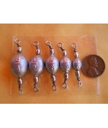JumpingBolt 75 PCS. Nickel Swivel Egg SINKERS 3/4,1/2,3/8,1/4,1/8 OZ. 15... - $63.42