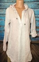 Forcynthia Beachwear Medium Pink Tunic Coverup M Hooded Beach - $19.80
