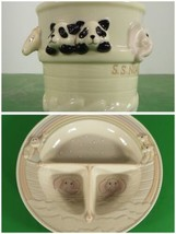 Lenox NOAH'S ARK Child Dinnerware Divided Dinner Plate with Matching Mug 2-pc - $34.60