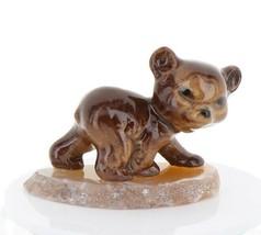 Hagen Renaker Miniature Baby Bear Cub Walking on Base Stepping Stones #2759
