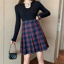 Women Knee Length Plaid Skirt Plus Size Knee Length Full Pleated PLAID SKIRTS image 13
