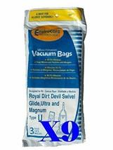 27 Royal Dirt Devil Type U MVP Swivel Allergy Vacuum Bags, Ultra, Magnum, Powerc - $25.29