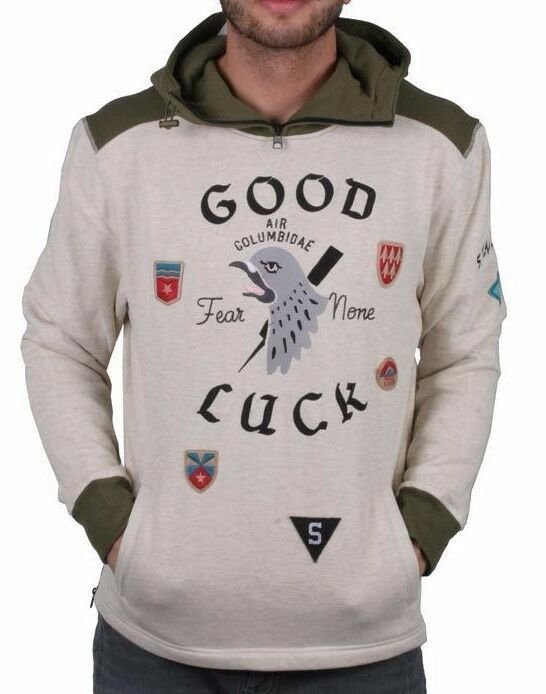 Primary image for Staple Oatmeal Heather Delta Airforce Good Luck Hoodie NWT