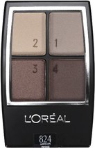 L'Oreal Paris Wear Infinite Eye Shadow Quad, 0.16 Ounce (Landscape) - $22.00