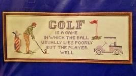 Golf Lies Needles N Hoops Printed Cross Stitch Sampler Kit 7 x 19 in 312... - $15.84