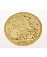 Full Sovereign 1911, London Mint, 22 Carat Gold 8 grams - $408.45