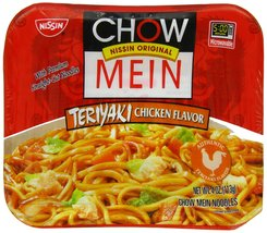Nissin Chow Mein Teriyaki, Chicken, 4 Ounce (Pack of 8) - $18.41