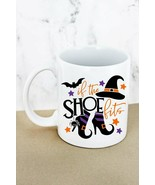 Halloween Coffee Cup Mug Which Bat 'If the Shoe Fits' Graphic Mug 11 oz - $12.55