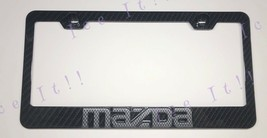 3D Mazda Miata 3K Twill Weave 100% Real CARBON FIBER License Plate Frame - $38.60