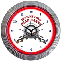 "From My Cold Dead Hands Firearms Neon Clock 15""x15"" - $59.00"