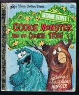 ORIGINAL Vintage 1980 Sesame Street Cookie Monster Cookie Tree Golden Bo... - $13.99