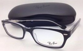 RAY-BAN Rx-able Eyeglasses HIGHSTREET RB 5150 2034 50-19 Black On Clear Frames