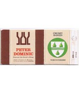 UK Matchbox Cover Cricket Badges Worcestershire Peter Dominic Wines Finland - $1.48