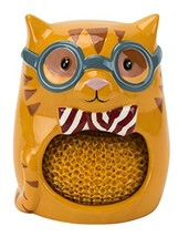 Scrubby & Sponge Holder, Smarty Cat Collection, Hand-painted (Smarty Cat) - £8.69 GBP