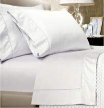 *Ralph Lauren 624 Solid Sateen KING Pillowcases (2) - Deco White NWT - $62.76