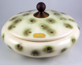 Midcentury modern Royal Haeger dimpled candy box bowl with lid R 1579-S - $30.00