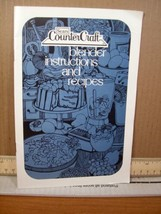 Manual/instruction booklet Sears Countercraft Blender Instructions and R... - $8.99