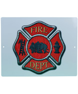 Aluminum Sign Firemans Cross White Firefighting Plaque Maltese Rescue 12... - $12.99