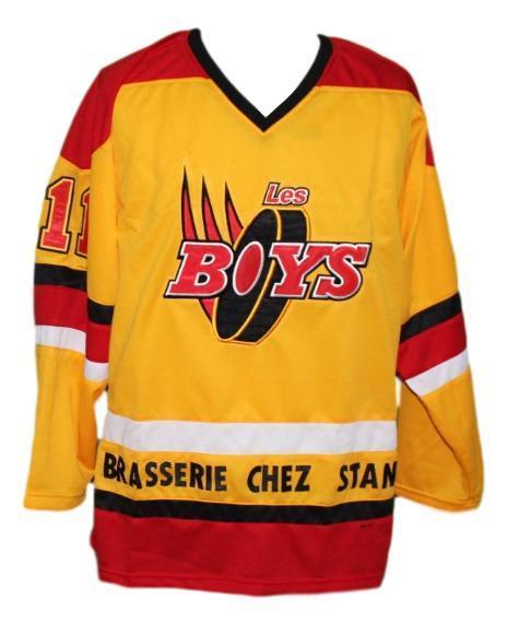 Les boys movie hockey jersey yellow   1