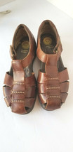 EARTH SHOES Size 7 Medium  Women's Brown Leather Harlen Sandals Comfort ... - $37.11