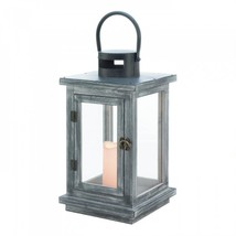 Distressed Gray Lantern With Led Candle - $34.72