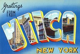 Greetingsfromutica newyork 1930 s vintagepostcardpostersmall thumb200