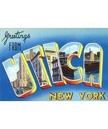Greetings From Utica, New York - 1930's - Vintage Postcard Poster - $9.99+
