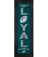 """Personalized Philadelphia Eagles """"Loyal""""- 8x24 Textured Look Framed Print - $39.95"""