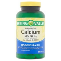 Spring Valley Rapid-Release Calcium 600mg + Vitamin D Softgels, 150 Count+ - $25.99