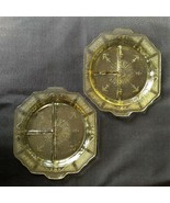 """Anchor Hocking Depression Glass Set of 2 Divided Grill Plate Princess Amber 10"""" - $23.74"""