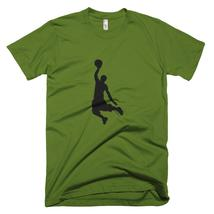 Men's American Apparel Basketball Short Sleeve T-Shirt, Man's Basketball T-Shirt - $33.00+