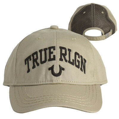 True Religion Men's Logo Trucker Hat Adjustable Strapback Baseball Cap TR2498