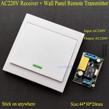 Wireless Remote Control Switch AC 220V Receiver Panel Transmitter Hall - €19,36 EUR