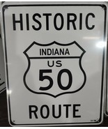 """Historic Indiana US Route 50 8""""x10"""" Metal Street Sign  - $12.86"""