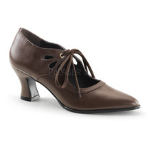 "FUNTASMA Victorian-03 Series 2 3/4"" Kitten Heel Pumps - Brown Pu - $39.95"