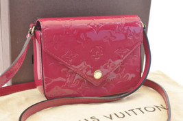 LOUIS VUITTON Vernis Sac Lucie Shoulder Bag Rose M90285 LV Auth 3022 - $798.00