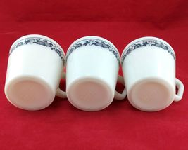 Pyrex 1410 Coffee Cups Vintage Old Town Blue ~ Set of 3 ~ Made in the USA image 6