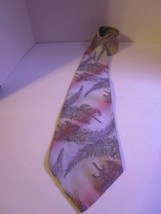 "Wemlon Men's Wide Necktie Tumbling Feathers by Wembley 4"" x 54"" Free Shi... - $7.06"