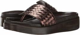 Donald J Pliner 9515 Women's Bronze Kidd  Woven Wedge Sandal Sz 7 - $21.78