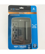 CE Tech 6 Outlet Swivel Wall Tap Surge Protector Computer Printer Protec... - $24.74