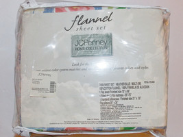 JC Penny Home Bella Rosa Flannel Twin Sheet Set 100% Cotton Vintage Neve... - $23.36
