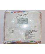 JC Penny Home Bella Rosa Flannel Twin Sheet Set 100% Cotton Vintage Neve... - $23.36