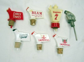 Vintage Alcohol Bottle Topper Advertising Pour Spout Lot Beam Imperial S... - $22.80