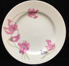 Salad Dessert Plate Spring Floral Enesco Fine China 1976 White Pink Flowers - $8.90