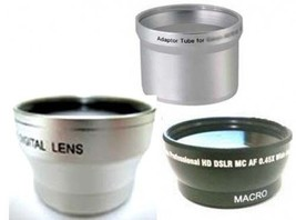 Wide Lens + Tele Lens + Tube bundle for Olympus C-700 C-720 C-725 C-730 ... - $44.99
