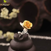 Flyleaf Original Hand Rose Flowers Necklaces & Pendants Women High Fashi... - $21.22